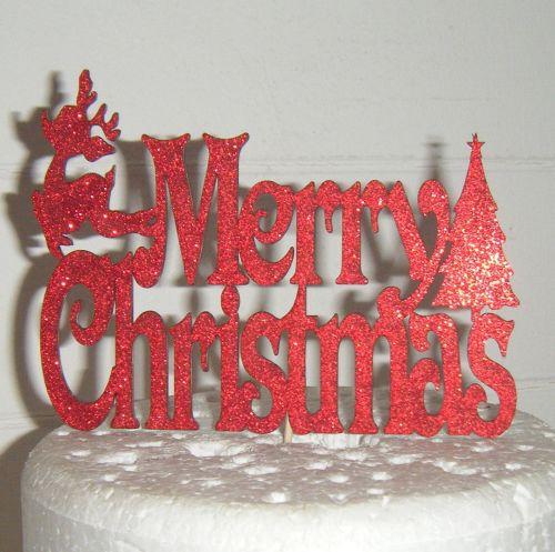 Merry Christmas  Cake Topper 2