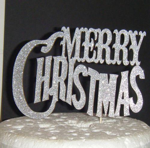 Merry Christmas  Cake Topper 3
