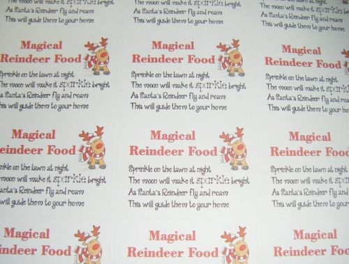 A4 Sheet of  Reindeer food Stickers