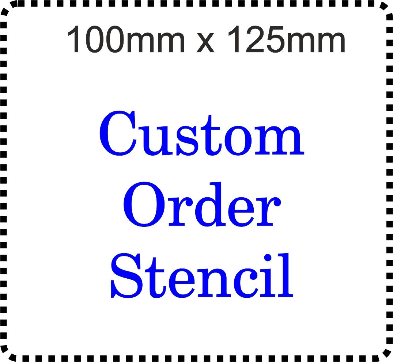 Custom Order Cake Bespoke Stencil 125mm x 100mm