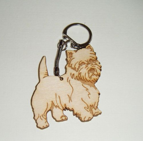 Dog keyring wooden engraved - any dog