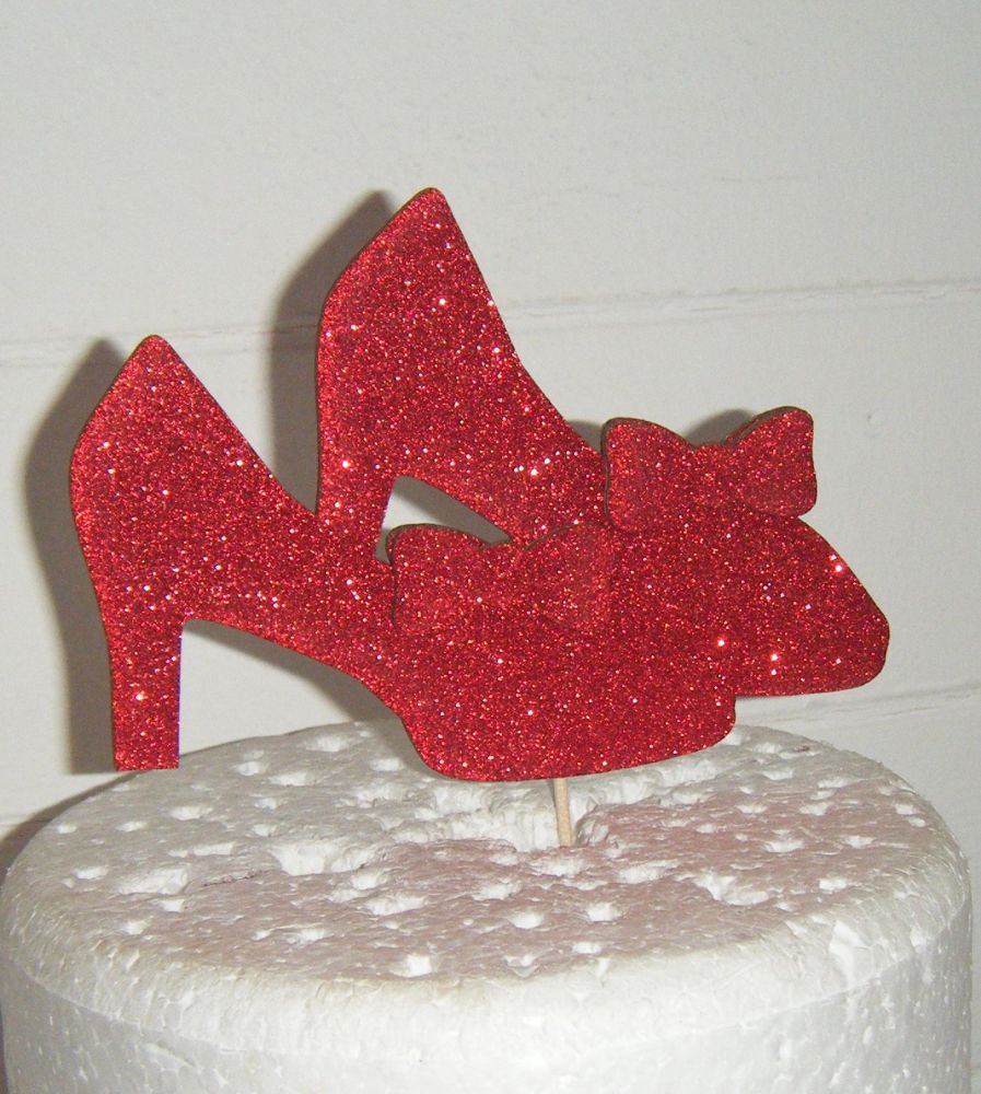 Pair of shoes with Bows  Silhouette Cake Topper