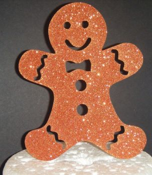 Gingerbread Man Silhouette CARD Cake Topper