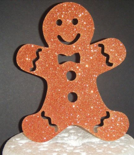 Gingerbread Man Silhouette Cake Topper