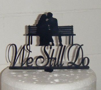 We still do Acrylic Cake Topper Bench
