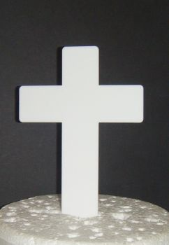 Baptism Christening Plain Cross Cake topper