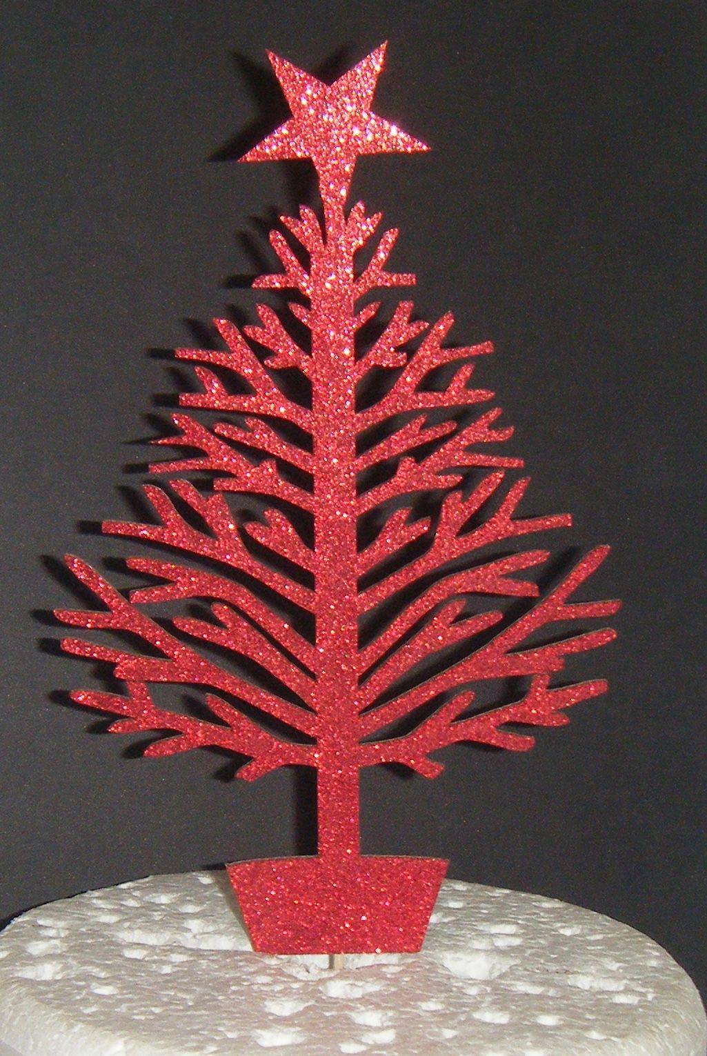 Christmas Tree Silhouette Cake Topper  1