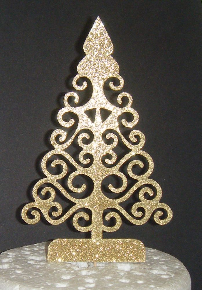 Christmas Tree Silhouette Cake Topper  2