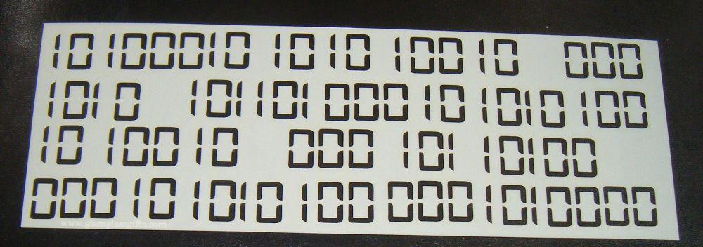 Binary Code Cake Decorating Stencil  Airbrush Mylar Polyester Film