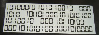 Binary code Cake decorating stencil  Airbrush Mylar Polyester Film
