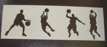 Basketball Players set 1  Cake decorating stencil