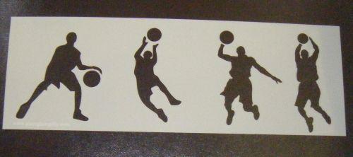Basketball Players set 1  Cake decorating stencil