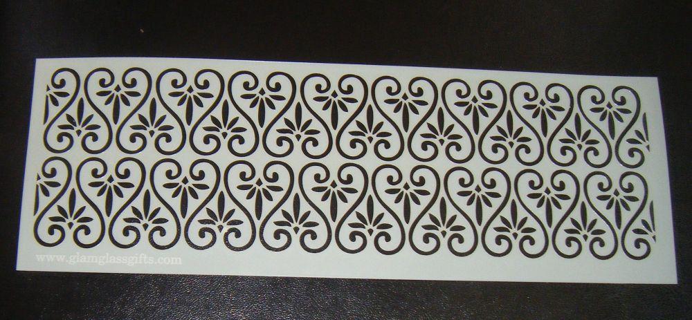Swirl Hearts Pattern Cake decorating stencil set Airbrush Mylar Polyester F