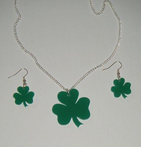 Shamrock Earring and Pendant set  Necklace