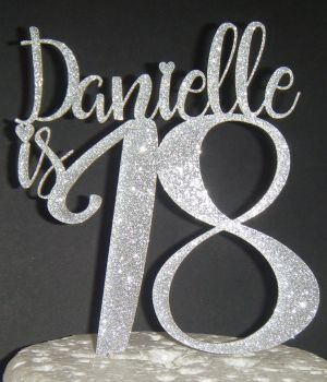 Name is Number Custom Cake Topper 2