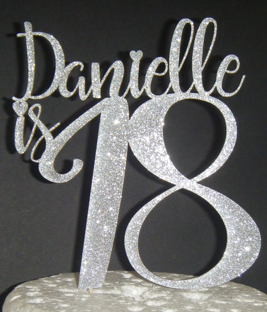 Number and name Custom Cake Topper