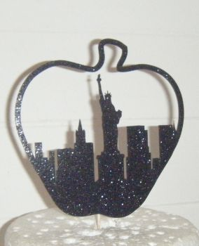 Big Apple Statue of Liberty Silhouette Cake Topper