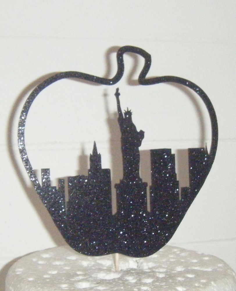 Big Apple Statue of Liberty Silhouette Cake Topper