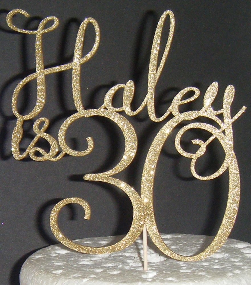 Happy number Birthday and Name  Topper Custom made 4