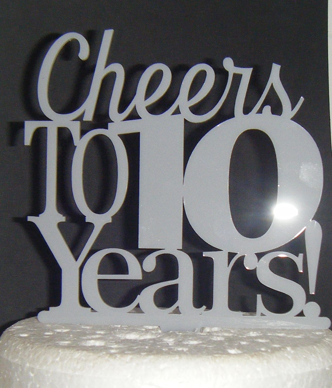 Cheers To Years Cake Topper