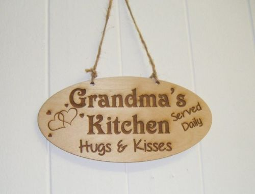 Grandma's Kitchen wooden plaque