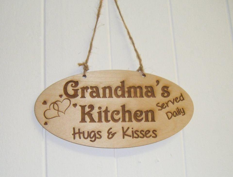 Grandma's Kitchen - Wooden Plaque