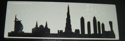Dubai skyline Cake stencil