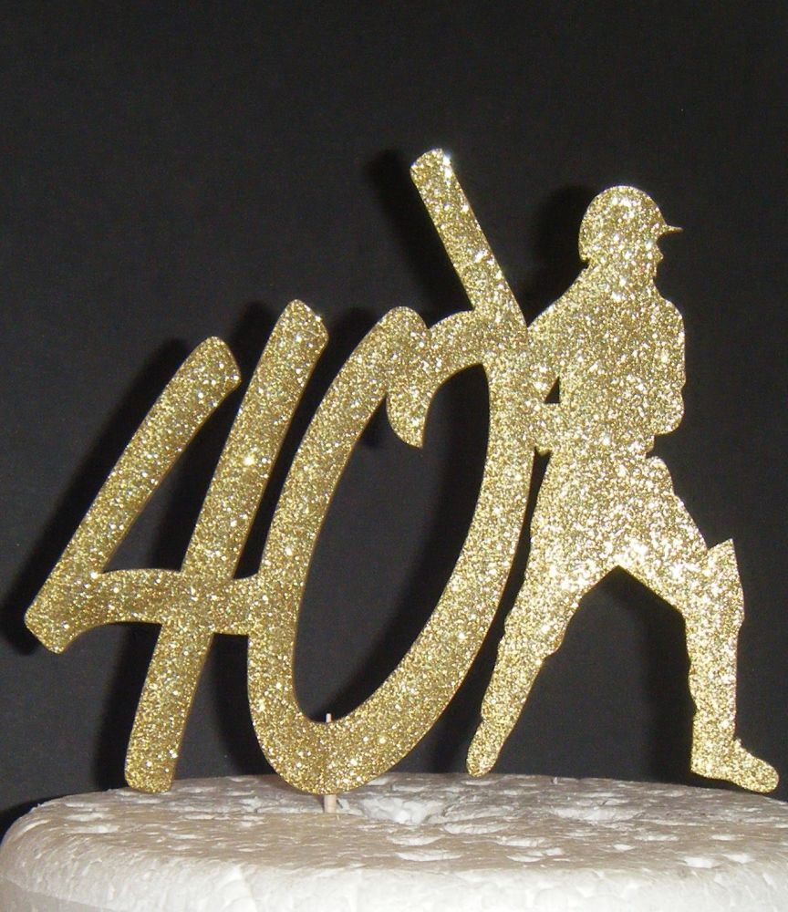 ANY Number 40 or 21, 18, 30, 50, etc with Cricket Man Cake Topper