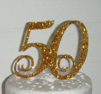 50 Cake Topper 4