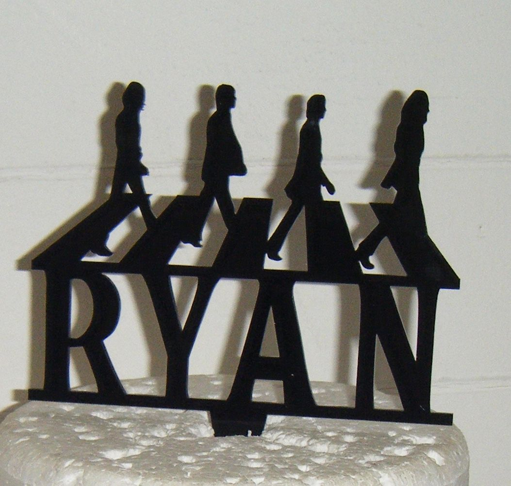 Beatles Abby Road with name Silhouette Cake Topper