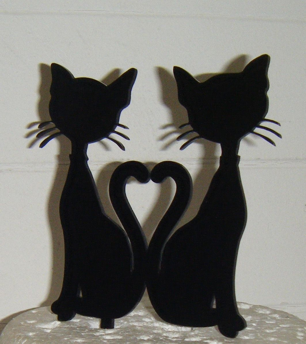 Couple Cat Cake Topper