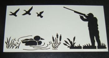 Hunting shooting ducks cake icing airbrush Stencil