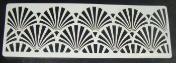 Art deco Fan Design Cake decorating stencil Airbrush Mylar Polyester Film