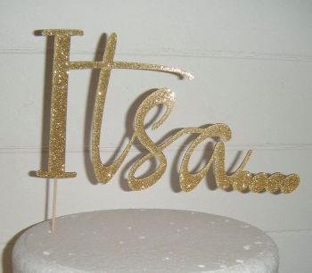 It's a baby Shower Reveal Cake topper