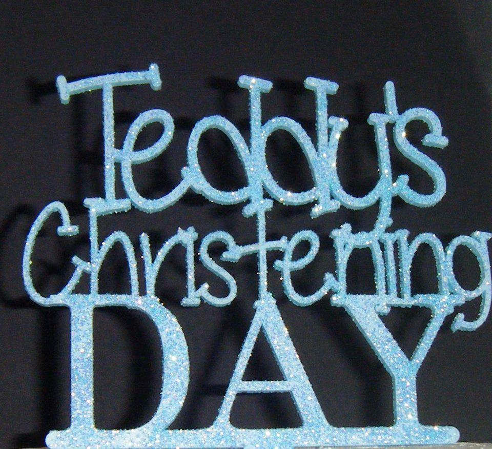 Custom Name  Christening Day Cake Topper