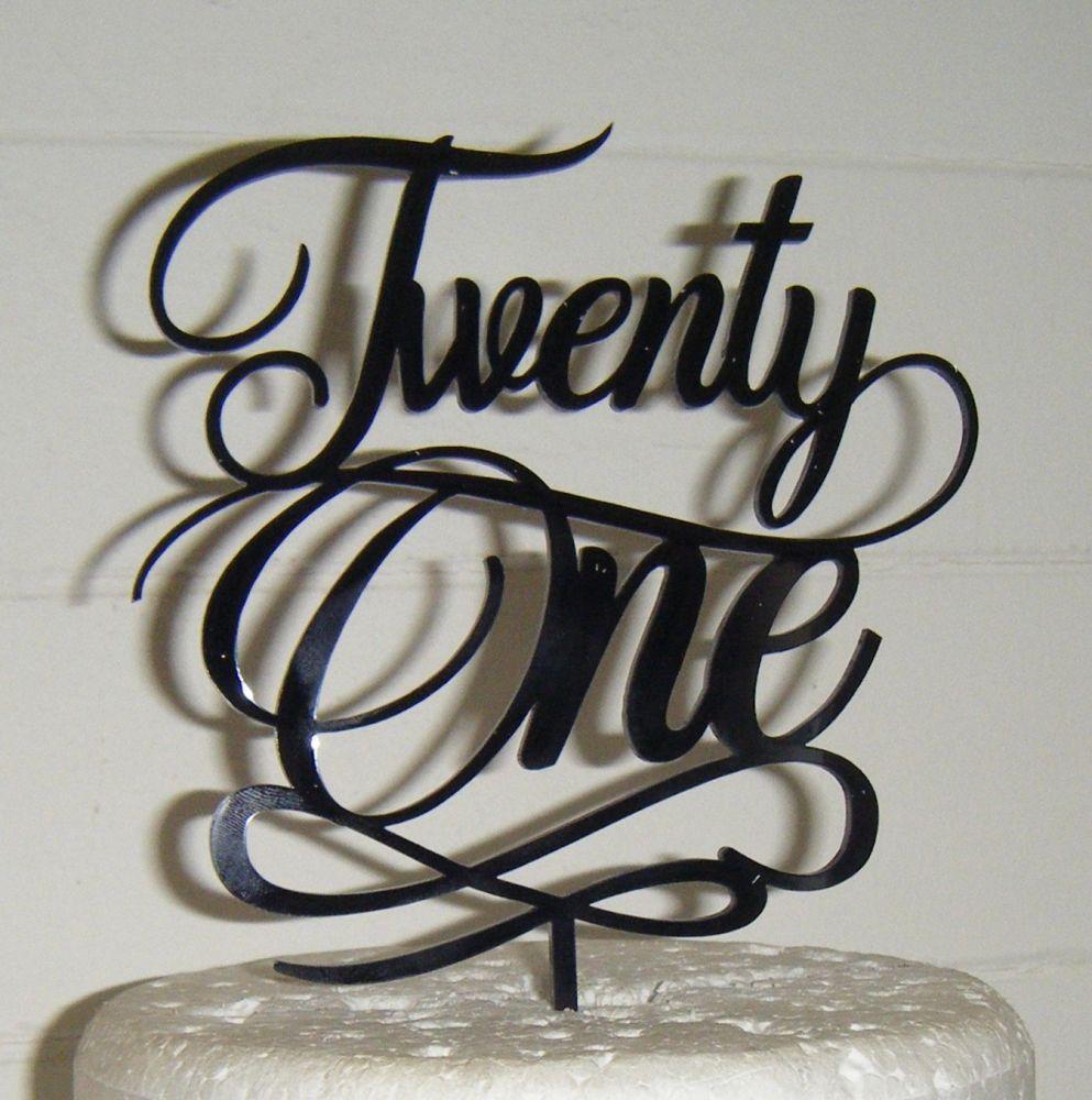 Twenty one 21 Cake Topper style 5