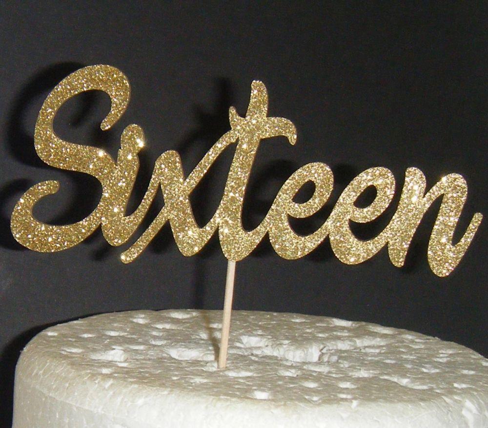 Sixteen Cake Topper 3