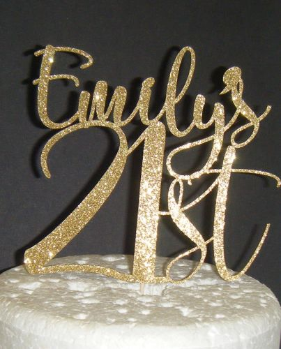 Number and name Custom Cake Topper 2