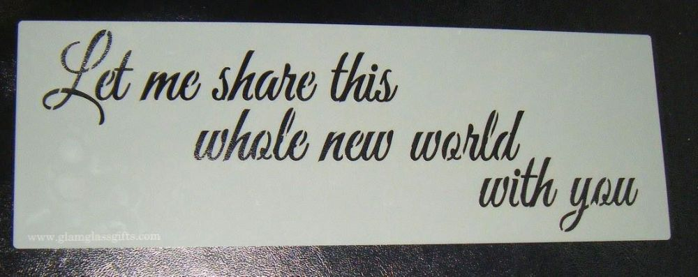 Let me share a whole new world Cake decorating stencil  Airbrush Mylar Poly