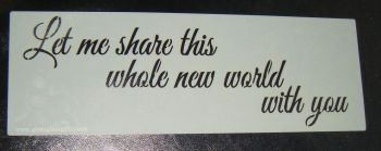Let me share a whole new world Cake decorating stencil  Airbrush Mylar Polyester Film