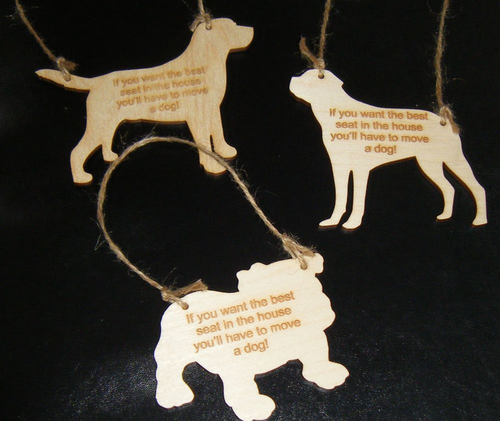 Best Seat In The House Mini Dog - Wooden Plaque