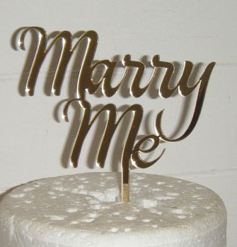 Marry Me Cake Topper