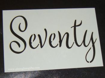 Seventy cake or craft stencil