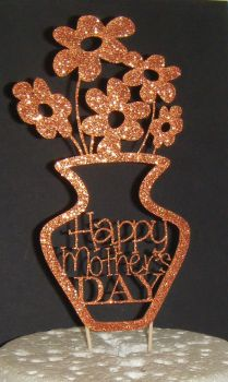 Happy Mother's day Flower pot Cake Topper