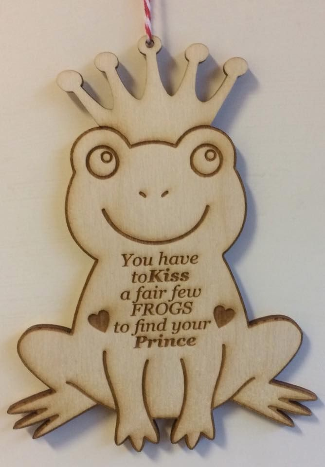 You have to Kiss a fair few frogs wooden plaque