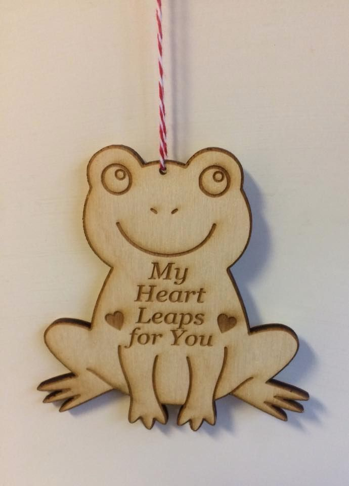 Quote frog wooden plaque