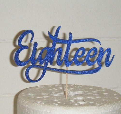 Eighteen Cake Topper 4