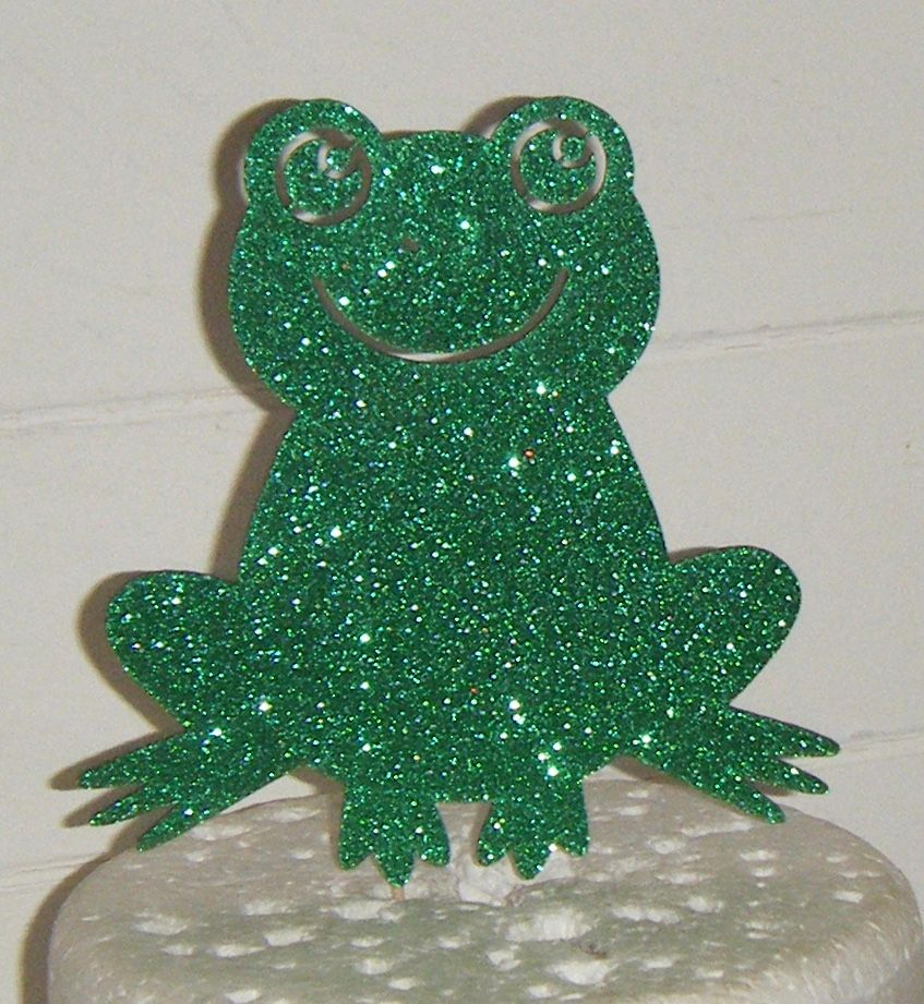 Fun Frog Silhouette Cake Topper
