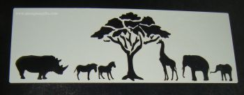 African animals Safari Cake stencil 2