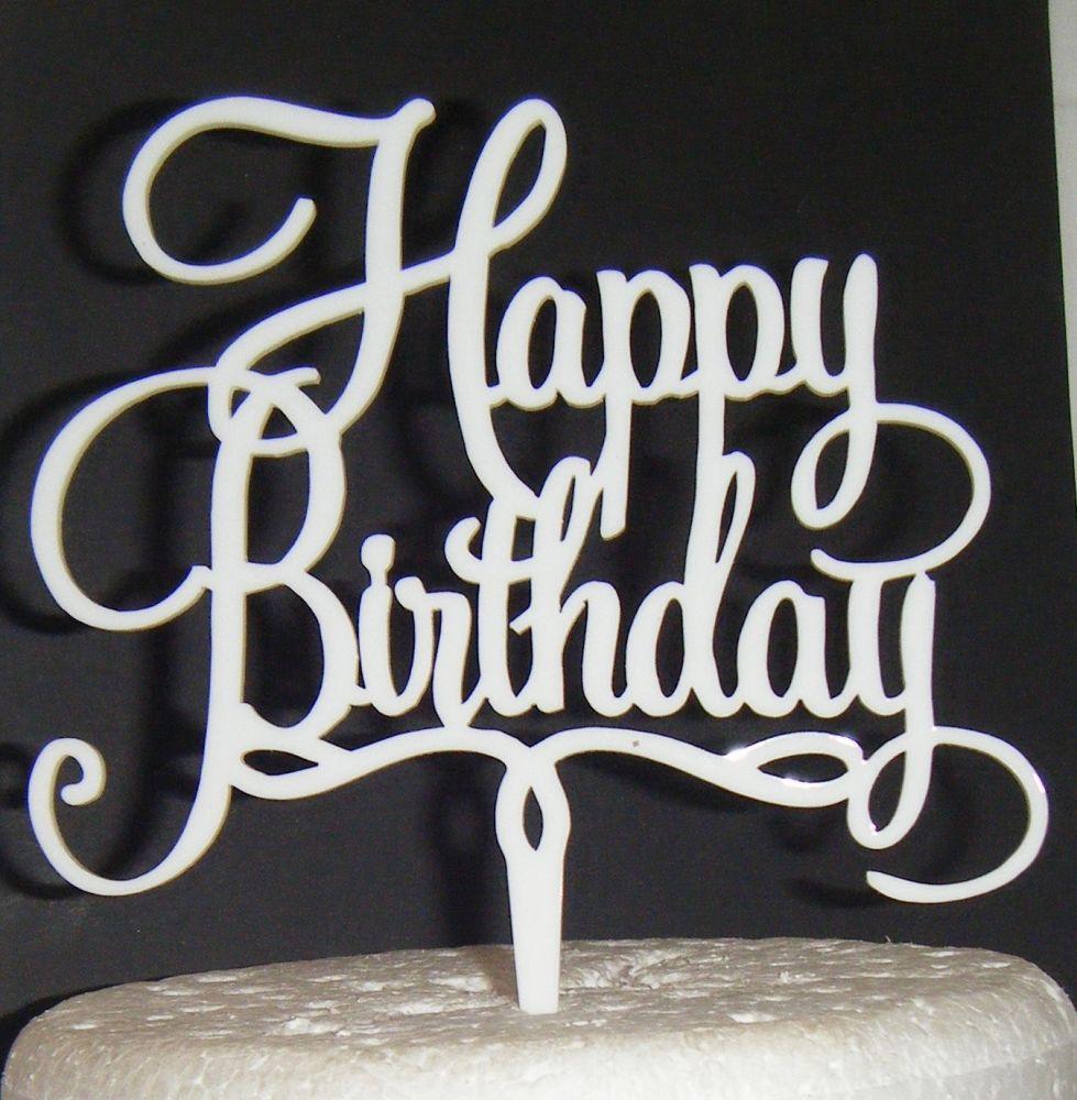 Happy Birthday Cake Topper 3
